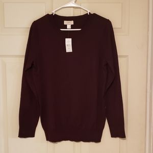 Loft purple cotton sweater NWT size medium